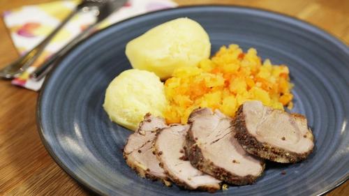 Mustard Glazed Pork Tenderloin