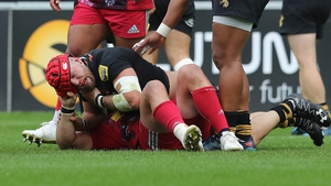 James Haskell and Joe Marler having their altercation