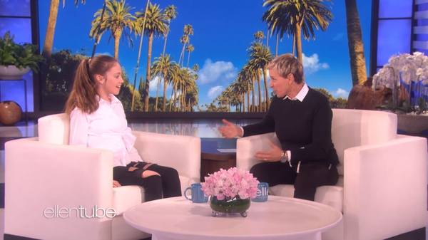 Allie Sherlock on The Ellen Show last week