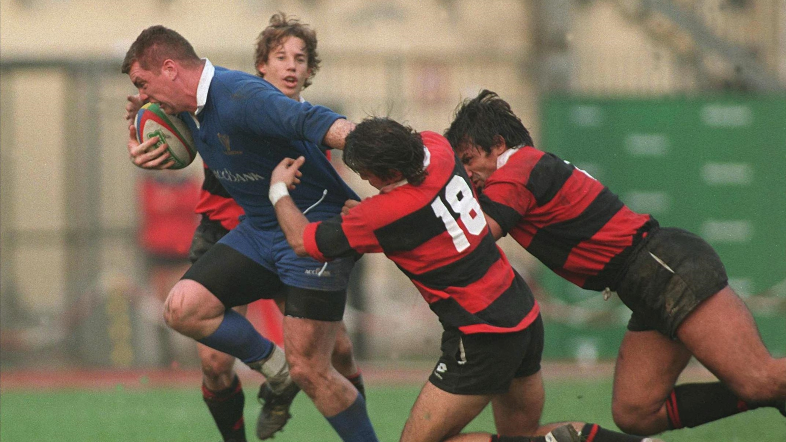 Image - Costello in action for Leinster against Milan in the 1996 Heineken Cup.