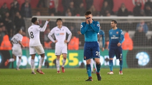Arsenal suffered another defeat at the Liberty Stadium tonight
