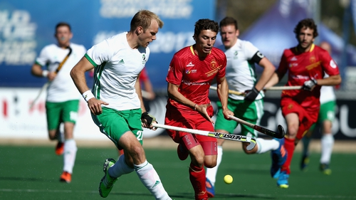 Conor Harte scored Ireland's second goal against Spain in their 5 Nations tournament game