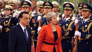 Theresa May is on a visit to China