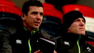 Ireland U20 head coach Noel McNamara and assistant Paul O'Connell