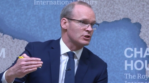 Tánaiste Simon Coveney speaking in London this evening