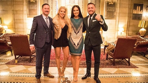Conor McGregor attended the Gala with his partner Dee Devlin, his coach John Kavanagh and his partner Orlagh Hunter