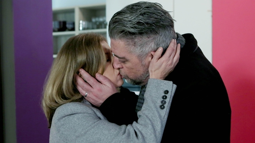 A confused Robbie kisses Aoife on Fair City
