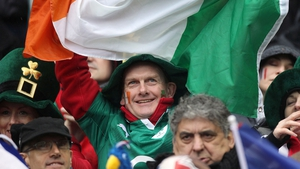 An Ireland supporters in the Stade de France back in 2012