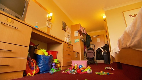 Many children in temporary accommodation are experiencing delayed developmental milestones such as walking