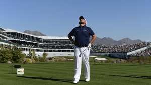 Lowry on the tee of the famous 16th at TPC Scottsdale