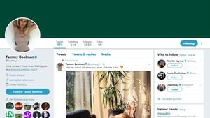 'Tammy Boolman' has taken over Harrington's account