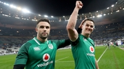 Conor Murray and Jonathan Sexton celebrate