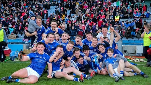 Ardmore players celebrate victory at Croke Park