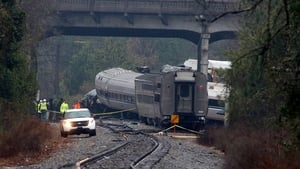 An Amtrak passenger train apparently travelling on the wrong track crashed intoa parked CSX Corp freight train