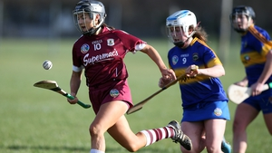 Galway's Aoife Donohue breaks clear of Tipperary's Jean Kelly