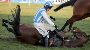 Paul Townend goes down with Killultagh Vic