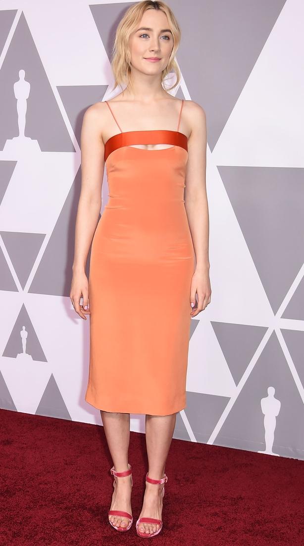 Saoirse Ronan arrives for the Annual Academy Awards Nominee Luncheon