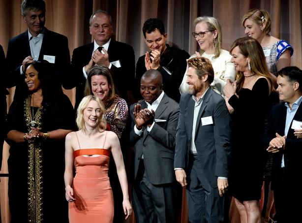 Saoirse Ronan, Willem Dafoe, Meryl Streep, Allison Janney, actor director Greta Gerwig attend the 90th Annual Academy Awards Nominee Luncheon