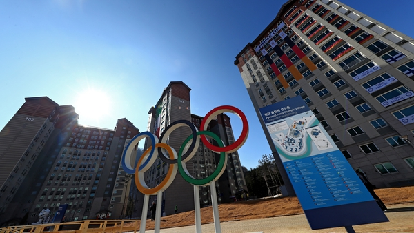 A view of the Olympic Village