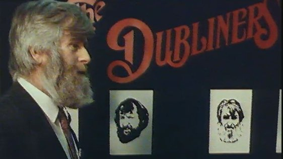 John Sheahan, The Dubliners at the Central Library in the Ilac Centre, Dublin (1988)
