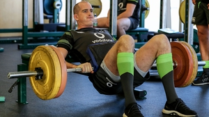 Devin Toner training at Carton House today