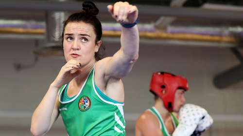 Kellie Harrington is aiming to follow in Katie Taylor's footsteps at lightweight