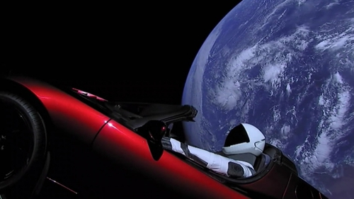 The Falcon Heavy sent a cherry red Tesla roadster into an orbit around Mars
