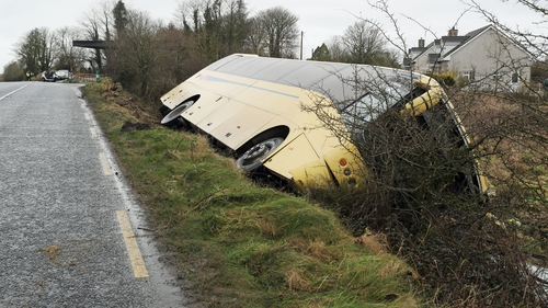 The crash happened outside the village of Caherconlish shortly before 8.30am
