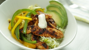 Turkey Fajita Rice Bowl