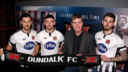 Patrick Hoban, Dean Jarvis and Stephen Folan joined Dundalk in November
