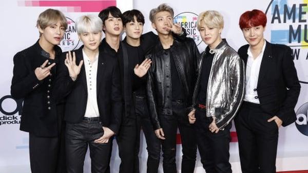 BTS at the American Music Awards 2017. Photo: Dave Bedrosian/Geisler-Fotopress/DPA/PA Images