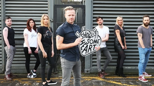 (L-R) Chris Greene, Ciara King, Blathnaid Treacy, Nicky Byrne, Eoghan McDermott, Tracy Clifford, Keith Walsh