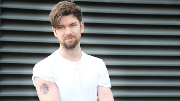 Eoghan McDermott models the Irish Heart Foundation's Show Some Heart temporary tattoo