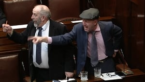 Independent TDs Danny and Michael Healy-Rae got embroiled in a verbal argument with another TD which led to the Dáil being suspended