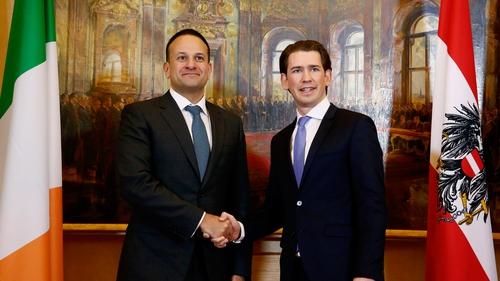 Sebastian Kurz said Austria would support Ireland's position on preventing a hard border
