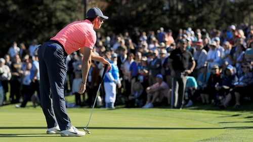 McIlroy on the sixth green in California