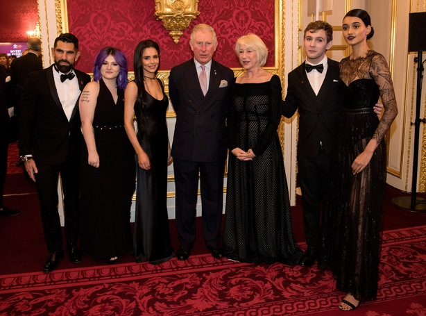 Cherly attended the Gala alongside Helen Mirren and Tom Jones
