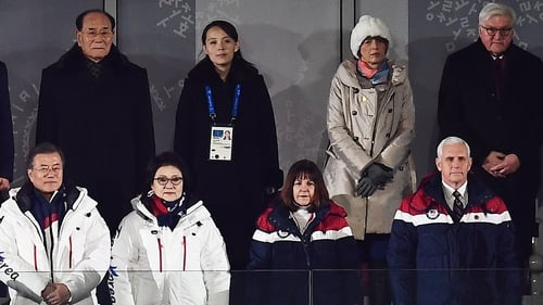 Trump, Kim Jong-un impersonators attend the Winter Olympics opening ceremony