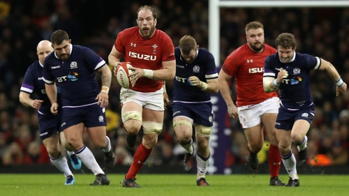Alun Wyn Jones in action against Scotland