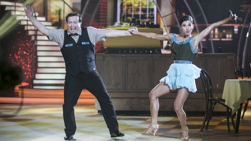 "Marty Morrissey with regular dance partner Ksenia Zsikhotska - ""As long as they keep voting I'll try my best - for however long I last"""