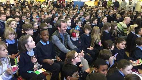 Gary Thornton got a hero's welcome on his return to work at Claddagh National School