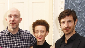 Executive Producer Gene Klein; Maya Eshet and Eoin Macken at the Nightflyers launch in Dublin on Friday