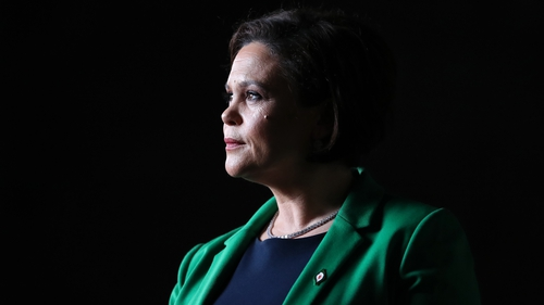 Mary Lou McDonald was formally elected as party leader yesterday at a special Ard Fheis