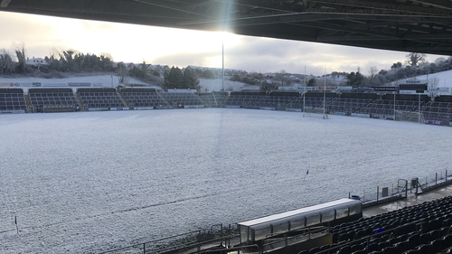 The scene in Cavan as their game with Meath was called off