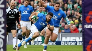 Italy scored three tries against Ireland