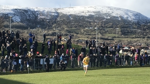 A chilly afternoon at Corrigan Park Pic: @AontroimGAA
