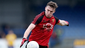Barry O'Hagan helped Down to a five-point over Roscommon in Dr. Hyde Park