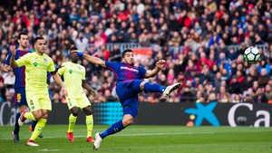 Luis Suarez had a goal ruled out for Barcelona
