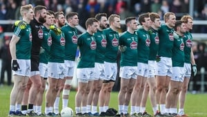 Kildare before throw-in in Newbridge on Sunday