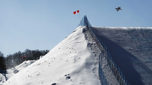 Hailey Langland of USA competes in the Snowboard Ladies' Slopestyle final on day three of the PyeongChang 2018 Winter Olympic Games